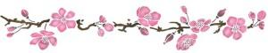 frise fleurs pommier