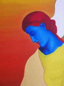 Ange Bleu, Acrylique sur toile